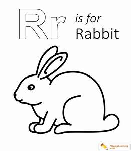 R Is For Rabbit Coloring Page