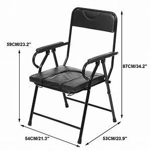 Pregnant Elder Folding Bedside Bathroom Toilet Chair