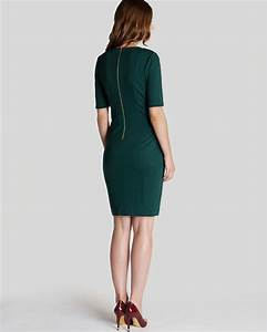 Ted Baker Pants Size Chart Lyst Ted Baker Corie Seam Detailed Dress In Green