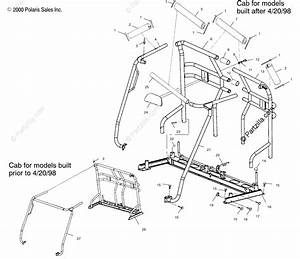 Polaris Side By Side 1999 Oem Parts Diagram For Cab Frame
