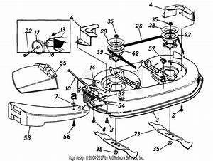 Mtd 136a694f401  1996  Parts Diagram For 38 U0026quot  Mowing Deck
