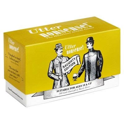 I'm going to tell you about naughty card game in this article. Utter Nonsense Naughty Board Game, Adult Unisex | Card games, Board games, Fun board games