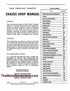 1966 Pontiac Tempest    Gto Chassis Shop Manual