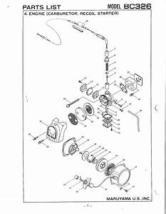 Maruyama Parts Bc326 Engine Carburetor Recoil Starter