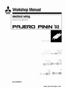 Mitsubishi Pajero Pinin Workshop Manuals Pdf