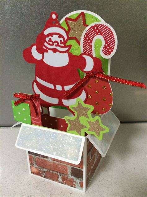 Christmas background with gift box. Santa box card. Pattern thanks to Svgcuts. | Boxed ...