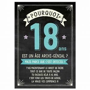 Cadeau Femme 18 Ans : maxi carte pourquoi 18 ans est un ge archi g nial cadeau maestro ~ Teatrodelosmanantiales.com Idées de Décoration