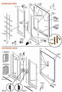 200 Series Double Hinged Patio Door Parts Diagram