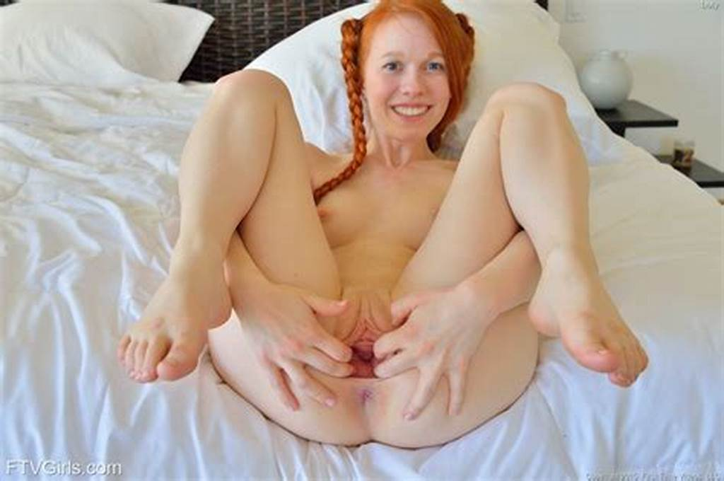 #Cute #Redhead #With #Pigtails #Spreading #Pussy #Lips #For #Huge