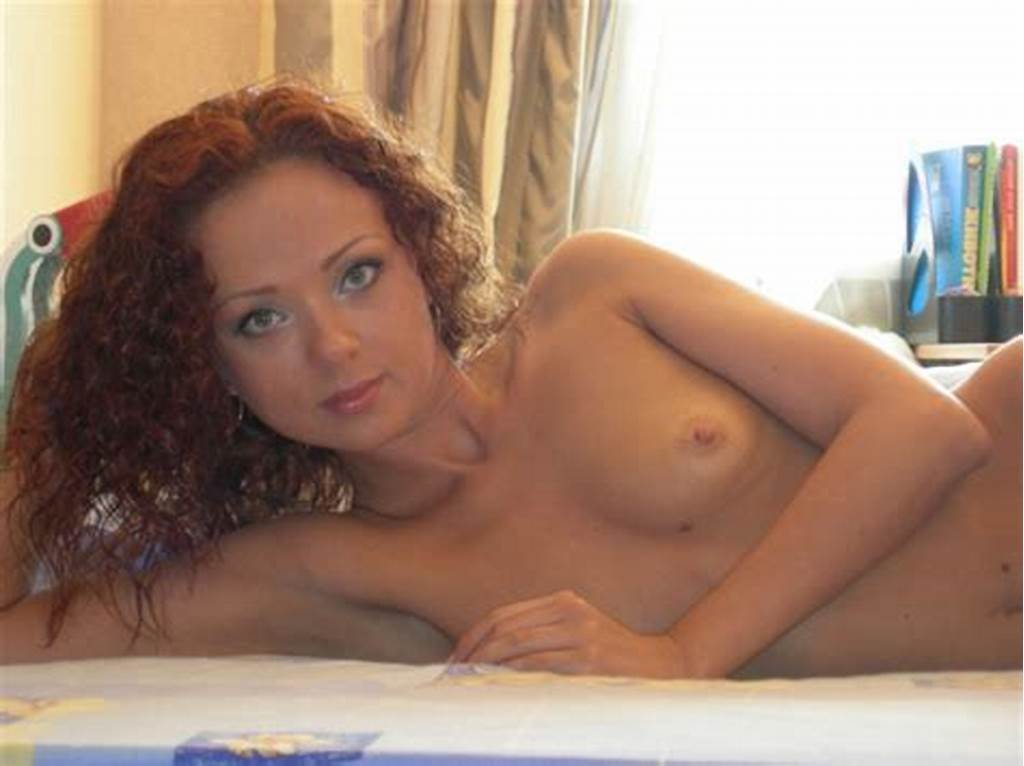 #Curly #Redhead #With #Small #Tits