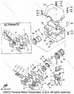 Yamaha Snowmobile 1990 Oem Parts Diagram For Air Cleaner