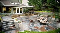 patio design ideas Outdoor patio designs with fire pit, rustic stone patio ideas rustic flagstone patio. Interior ...