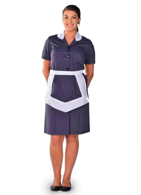 tenue de femme de chambre blouse femme de chambre à manches courtes rayure carlton