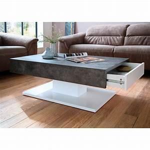 Couchtisch Weiß Grau : couchtisch lania beistelltisch tisch in wei matt lack beton grau oder eiche ebay ~ Frokenaadalensverden.com Haus und Dekorationen