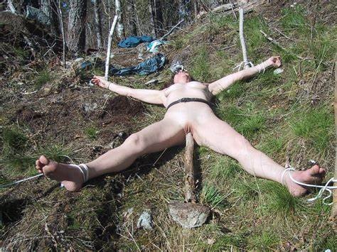Teens Slave Fisted Outdoors In Bondage