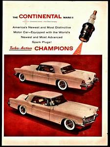 1955 Lincoln Continental Mark Ii Champion Spark Plugs
