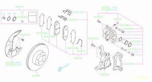 Subaru Legacy Disc Brake Abutment Clip  Pad Clip Brake