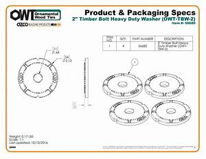 2 U0026quot  Timber Bolt Heavy Duty Washer  Owt