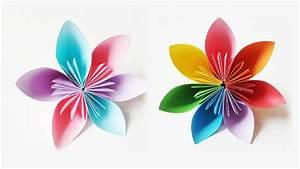 Origami Blumen Falten : wundersch ne origami blumen falten youtube ~ Watch28wear.com Haus und Dekorationen