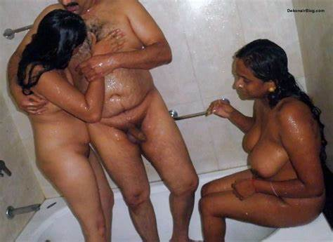 India Models Jerking Foursome