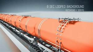 Freight Train with Petroleum Tank Cars Side View - Motion ...