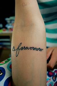 Forevermore Lettering Tattoo Design - TattooMagz