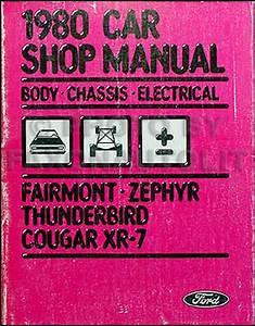 1980 Ford Lincoln Mercury Car Original Powertrain Manual