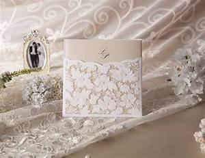 Faire Part Anniversaire Pas Cher : faire part de mariage haut de gamme avec la dentelle jm626 ~ Edinachiropracticcenter.com Idées de Décoration
