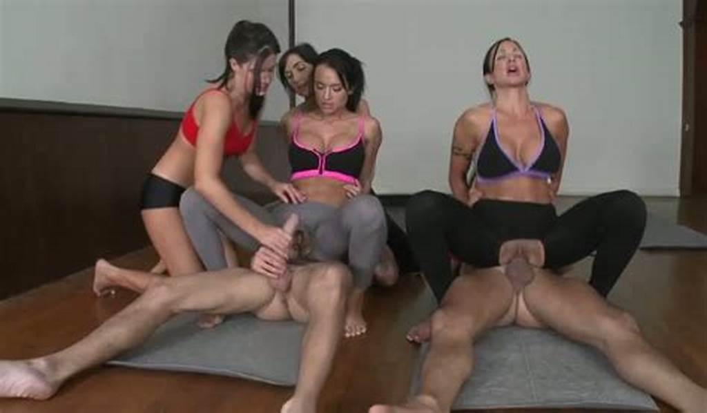 #Two #Gals #In #Crotchless #Yoga #Pants #Ride #Dick #Of #Chris