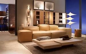 1001 exemples de decoration interieure salon actuelle With tapis de souris personnalisé avec creme pour canape cuir