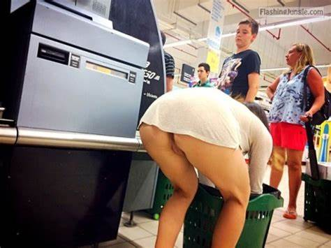 Cleavage No Skirt In Supermarket showing porn images for pubic bent over porn