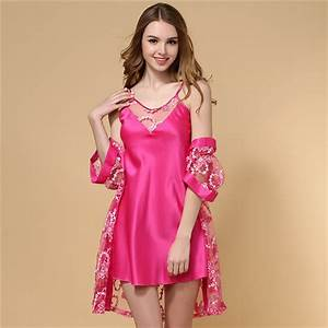 two pieces pajamas sexy lingerie women39s silk satin robe With lingerie robe sexy