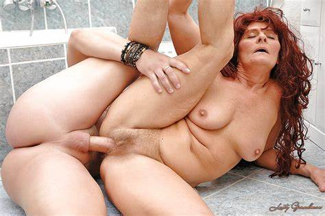 Ginger Granny Fucks A Ride On Massive Penis