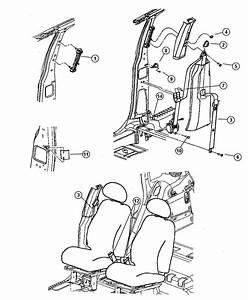 Chrysler Pt Cruiser Adjuster  Seat Belt Turning Loop