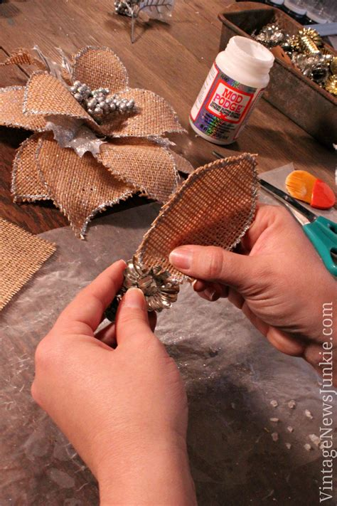 How to Make a Burlap Flower with Glitter {Video Tutorial