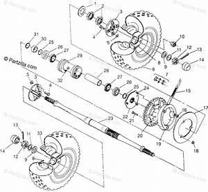 Polaris Atv 1996 Oem Parts Diagram For Rear Wheel Drive