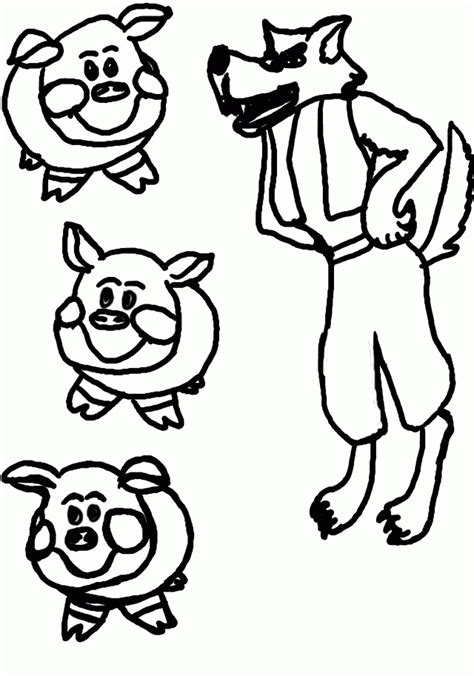 Three Little Pigs Coloring Pages Coloringnori Coloring