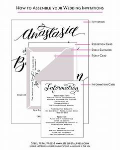 wedding invitation templates how to put together wedding With order of wedding invitation stuffing