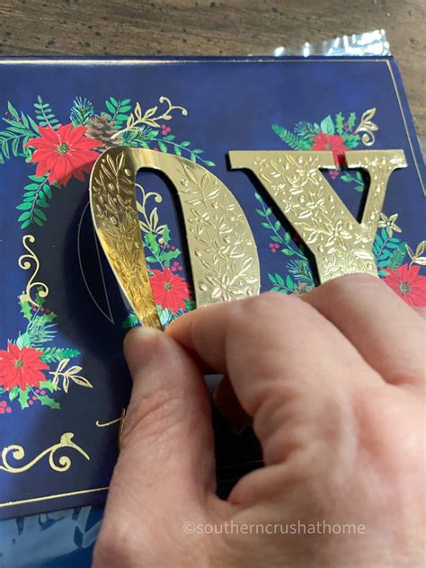 Elegant, sophisticated, classic, cool, announcements Dollar Tree Christmas Card DIY - Southern Crush at Home