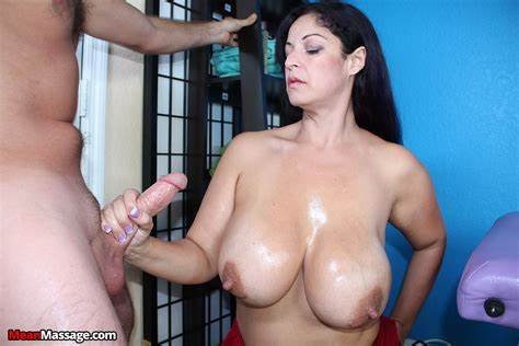 He Pushes A Prick Between Her Busty In Tit Job