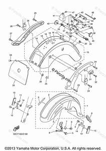 Yamaha Motorcycle 2007 Oem Parts Diagram For Fender