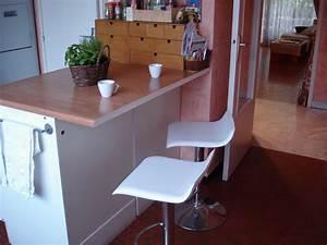 le plan de travail version quotbarquot idees maison With plan de travail pour bar de cuisine