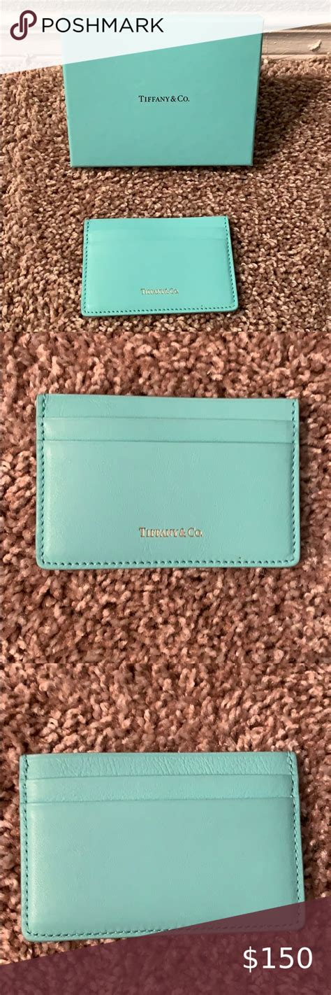 Store your credit cards in style with this sleek sterling silver card case. Tiffany and Co. Blue Card Holder | Tiffany and co, Card holder, Cards