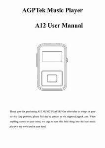Agptek Music Player A12 User Manual