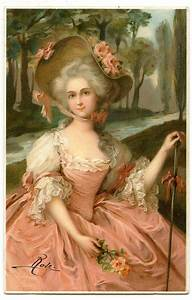 Vintage, Image, -, Lady, With, Roses, -, Marie, Antoinette-esque