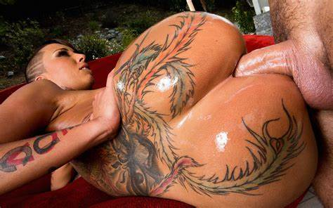 Tattooed Babe Banged Anally In Doggystyle