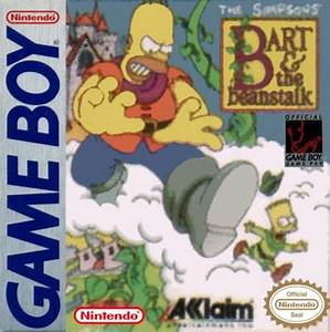 Simpsons Bart And The Beanstalk Game Boy