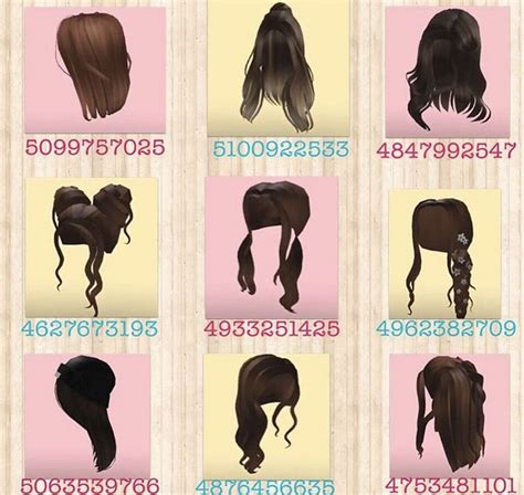 Rbx codes provides the latest and updated roblox hair codes to customize your avatar with the beautiful hair for beautiful people and millions of step1: credit :: @mabelu_games on insta 🤍 in 2020 | Roblox pictures, Brown hair id, Roblox codes