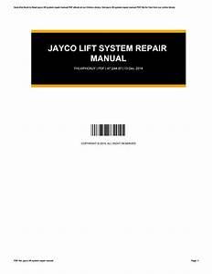 Jayco Lift System Repair Manual By Carmen