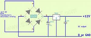 Ac To Dc 12v Regulated Power Supply